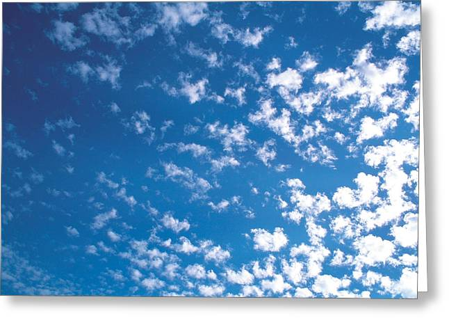 Cumulus Clouds Greeting Cards - Cloudscape Greeting Card by Panoramic Images