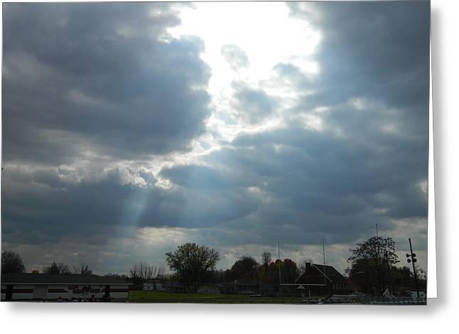 Cloudy Sky Greeting Card by Linda Brown