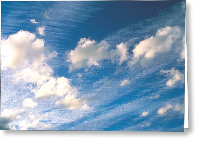 Wispy Greeting Cards - Cloudy Sky Greeting Card by Panoramic Images