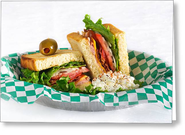 Club House Sandwich Greeting Card by Brandon Smith