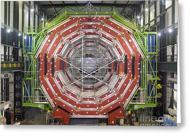 Structure Of Matter Greeting Cards - Cms Detector, Cern Greeting Card by David Parker