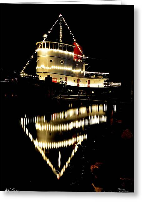 Penticton Greeting Cards - CN Tug Greeting Card by Guy Hoffman