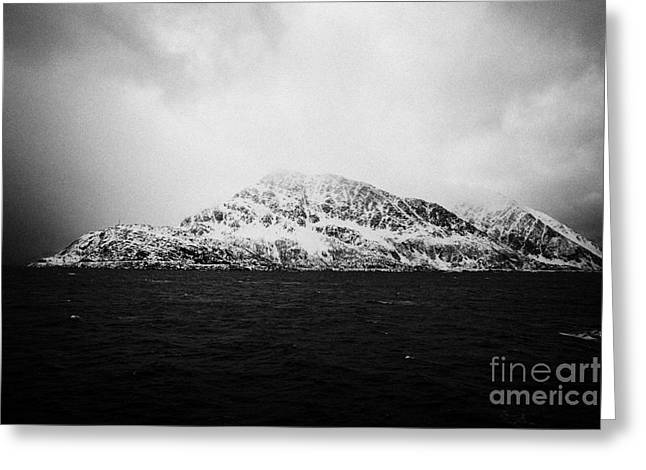 Norwegian Sea Greeting Cards - Coast Of The Norwegian Sea  During Winter Norway Europe Greeting Card by Joe Fox