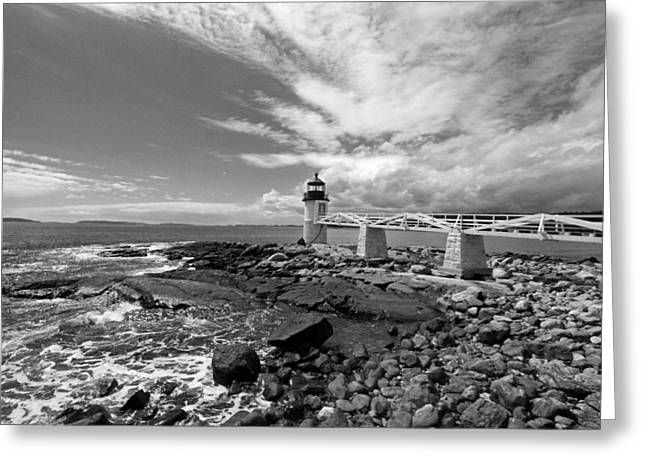 Coastal Maine Greeting Cards - Coastal  Greeting Card by Becca Brann