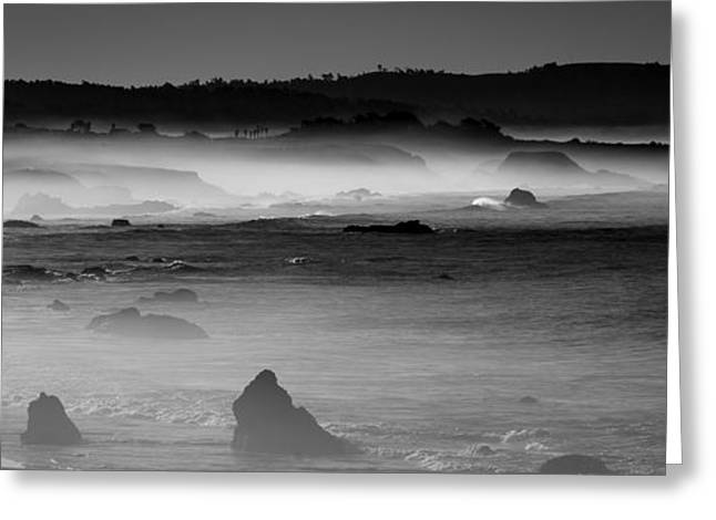 Big Sur Beach Greeting Cards - Coastal Fog Greeting Card by George Buxbaum