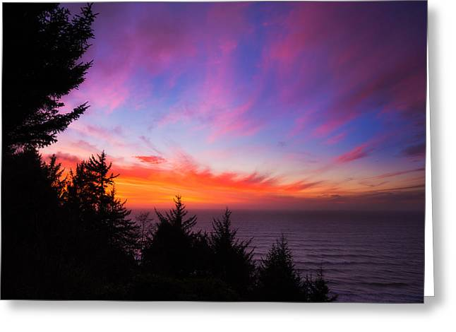 Sunset Greeting Cards Greeting Cards - Coastal Skies Greeting Card by Darren  White