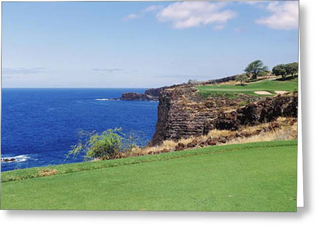 Ocean Photography Greeting Cards - Coastline, Black Rock, Kaanapali, Maui Greeting Card by Panoramic Images