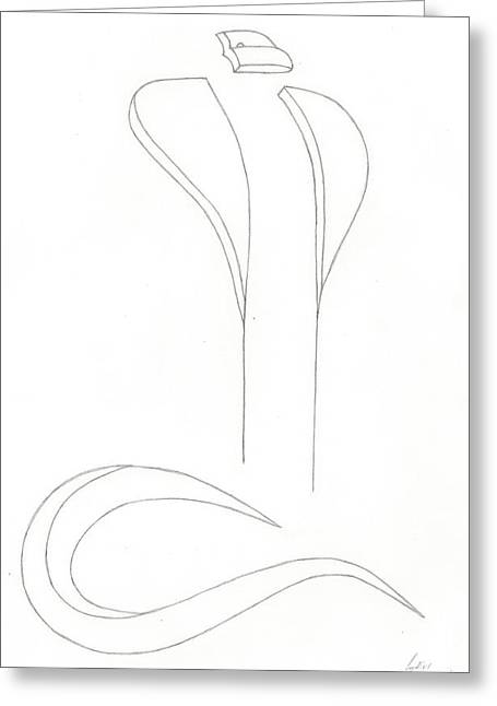Levi Drawings Greeting Cards - Cobra Ghost Greeting Card by Levi  Thompson