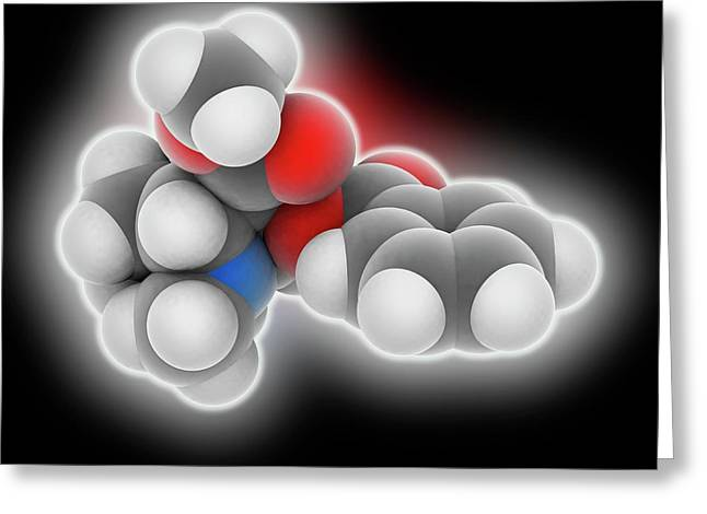 Cocaine Drug Molecule Greeting Card by Laguna Design