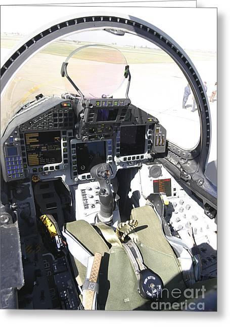 Throttle Greeting Cards - Cockpit View Of A Eurofighter Typhoon Greeting Card by Timm Ziegenthaler