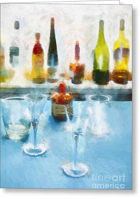 Cocktails Greeting Card by HD Connelly