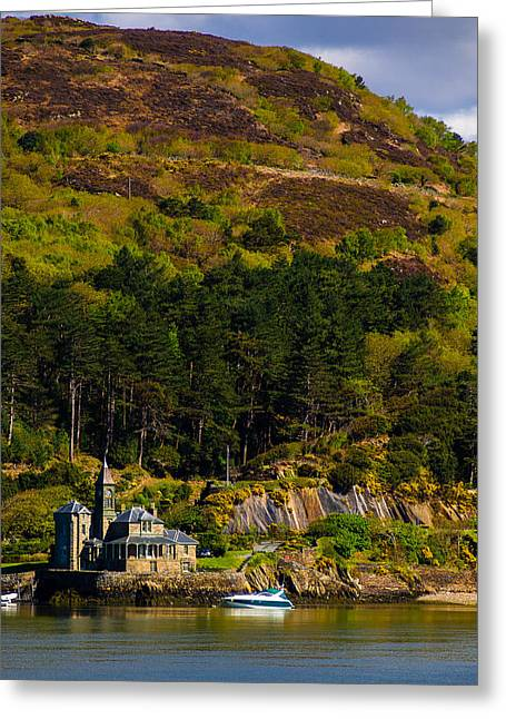 North Sea Greeting Cards - Coesfaen Lodge Barmouth Greeting Card by Mark Llewellyn