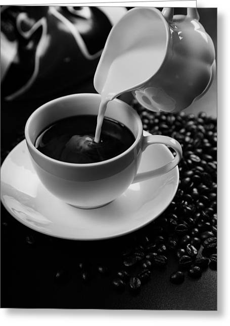 Pouring Greeting Cards - Coffee and Cream Greeting Card by Mountain Dreams