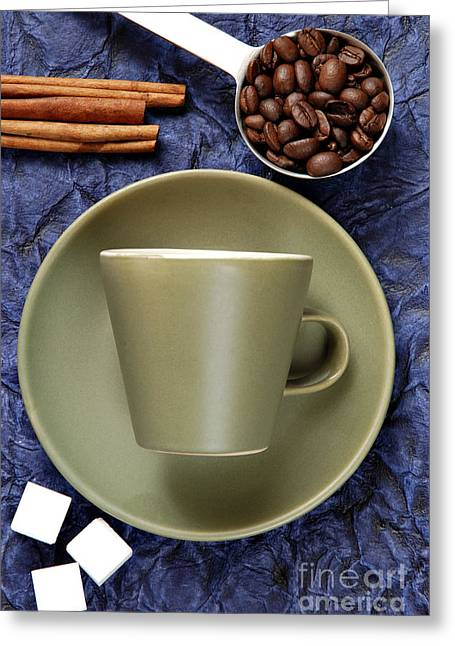 Teaspoon Greeting Cards - Coffee Greeting Card by HD Connelly