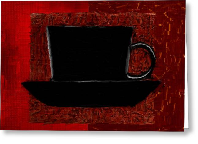 Downtown Cafe Greeting Cards - Coffee Passion Greeting Card by Lourry Legarde