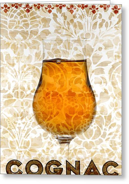 Fine Mixed Media Greeting Cards - Cognac Greeting Card by Frank Tschakert
