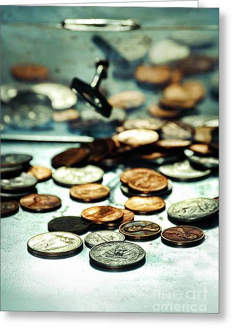 Dimes Greeting Cards - Coins Greeting Card by HD Connelly
