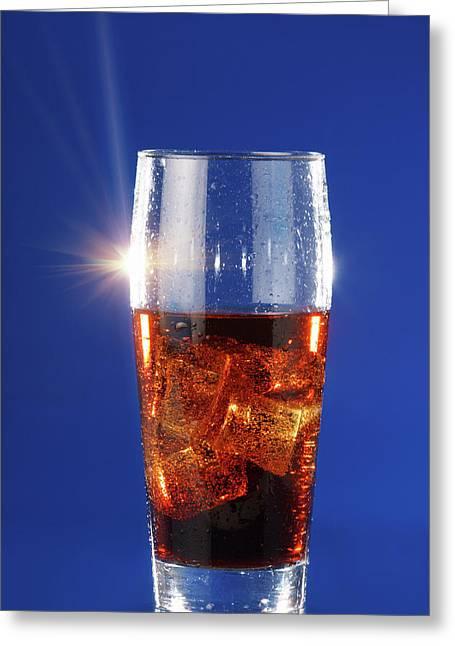 Cola Drink In A Glass Greeting Card by Wladimir Bulgar
