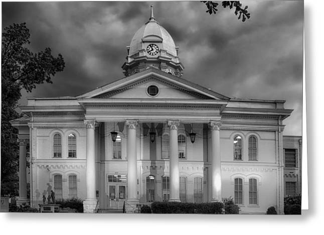 Colbert Greeting Cards - Colbert Country Courthouse in Tuscumbia Alabama Greeting Card by Mountain Dreams