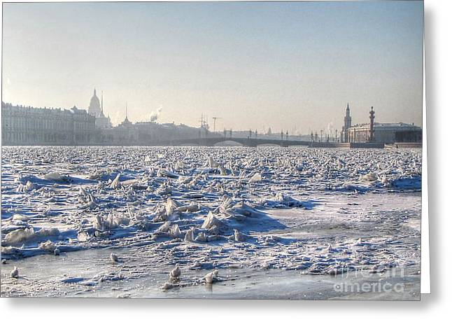 Tour Pyrography Greeting Cards - cold Peterburg Greeting Card by Yury Bashkin