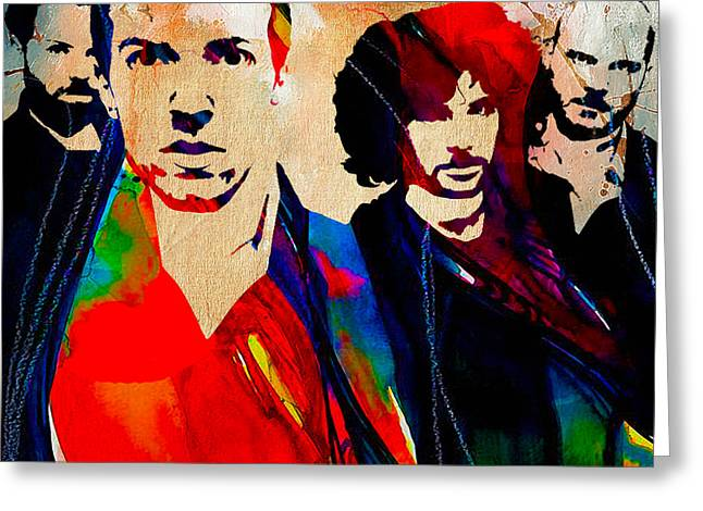 Coldplay Greeting Cards - Coldplay Collection Greeting Card by Marvin Blaine