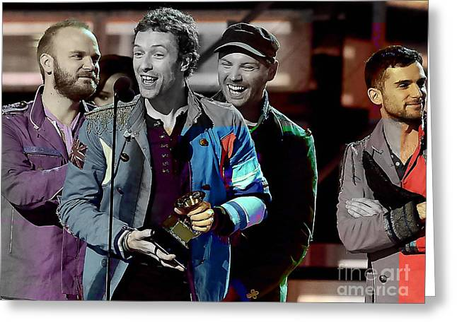 Coldplay Greeting Card by Marvin Blaine