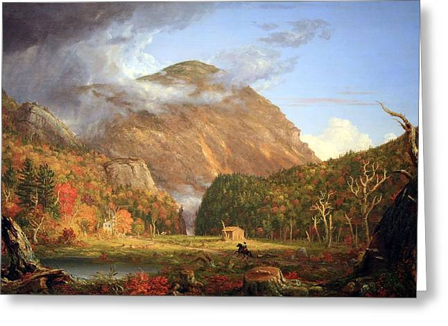 Cole Greeting Cards - Coles The Notch Of The White Mountains -- Crawford Notch Greeting Card by Cora Wandel