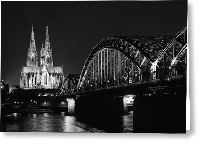 Cologne Greeting Cards - Cologne by the Rhine Greeting Card by Mountain Dreams