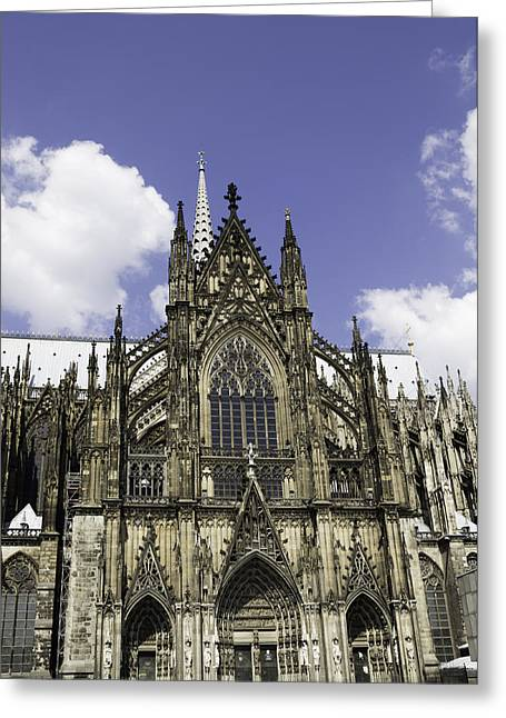 Medieval Entrance Greeting Cards - Cologne Cathedral 38 Greeting Card by Teresa Mucha