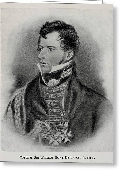 Colonel Sir William Howe De Lancey Greeting Card by British Library