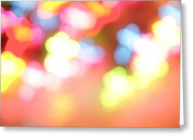 Color Blurs Greeting Card by Les Cunliffe