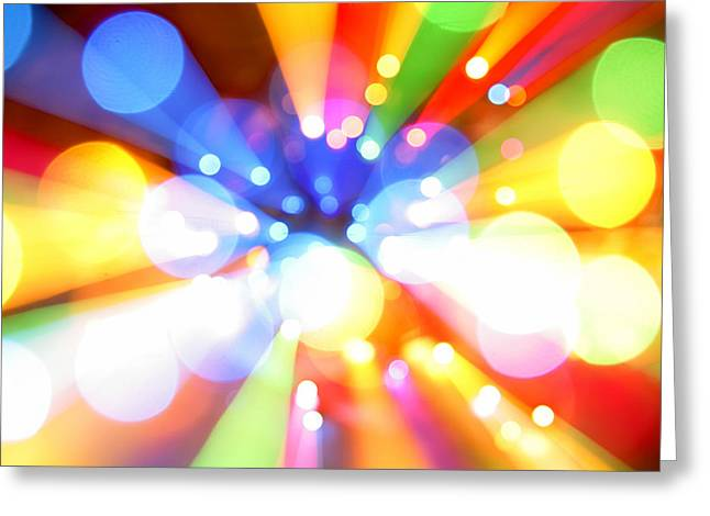 Vibrant Digital Art Greeting Cards - Color explosion Greeting Card by Les Cunliffe