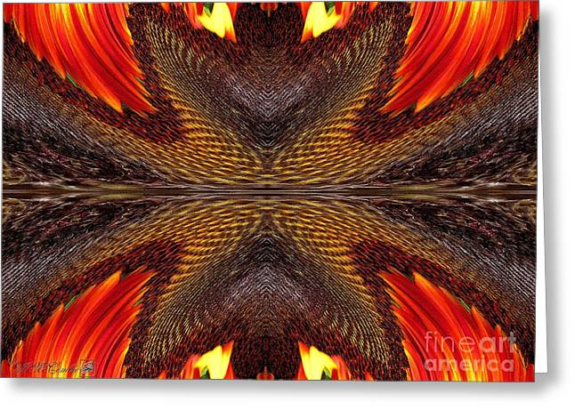Geometric Artwork Greeting Cards - Color Fashion Abstract Greeting Card by J McCombie