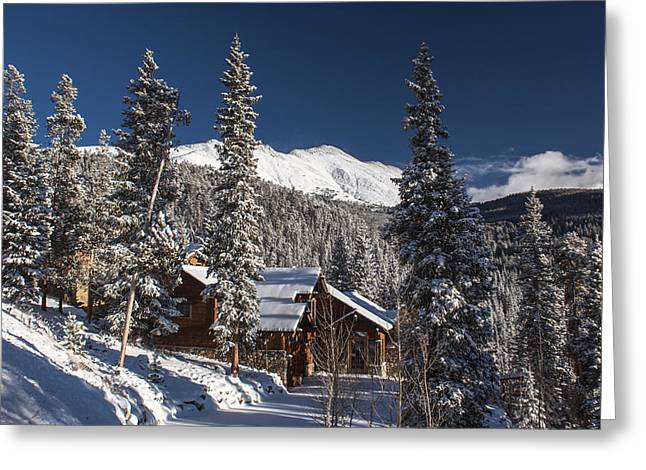 Colorado Mountain House Greeting Card by Michael J Bauer