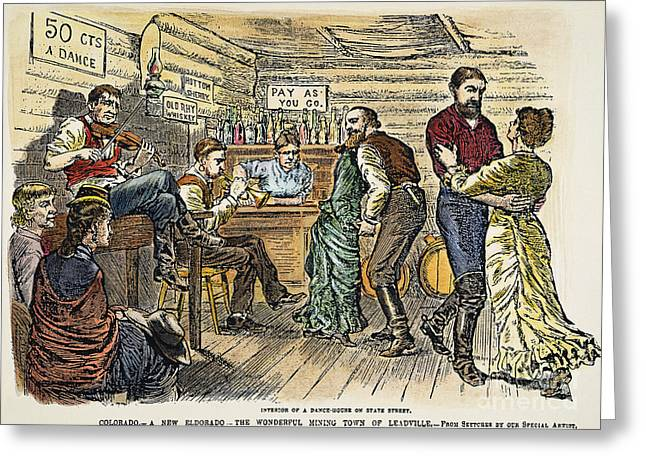 1880s Greeting Cards - COLORADO: SALOON, c1880 Greeting Card by Granger