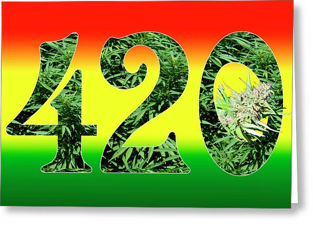 Colorful 420 Art Greeting Card by Stock Pot Images