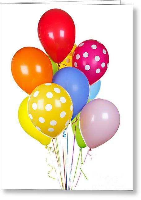 Occasion Photographs Greeting Cards - Colorful balloons Greeting Card by Elena Elisseeva