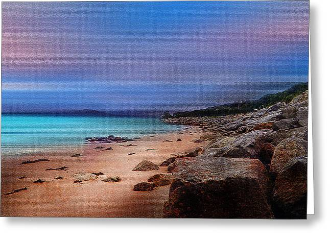 Photograph Tapestries - Textiles Greeting Cards - Colorful Beach Greeting Card by Mihai Medves