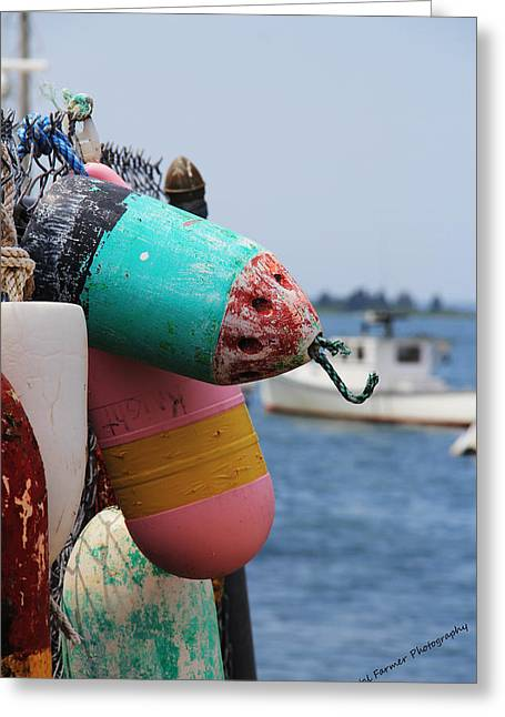 Lobster Buoy Greeting Cards - Colorful Greeting Card by Becca Brann