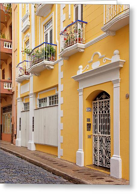 Colorful Buildings In Old San Juan Greeting Card by Brian Jannsen