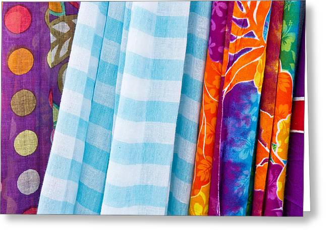 Selection Greeting Cards - Colorful cloths Greeting Card by Tom Gowanlock