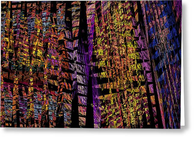 Colorful Computer Generated Abstract Fractal Flame Greeting Card by Keith Webber Jr