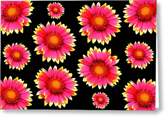 Label Greeting Cards - Colorful flowers Greeting Card by Toppart Sweden