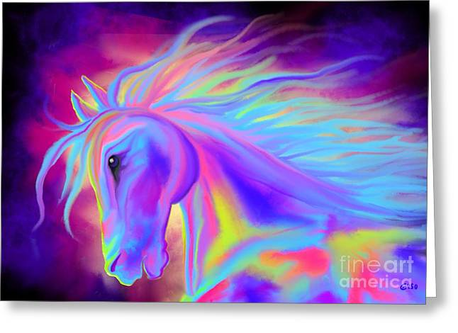 Painted Ponies Greeting Cards - Colorful Painted Pony Greeting Card by Nick Gustafson