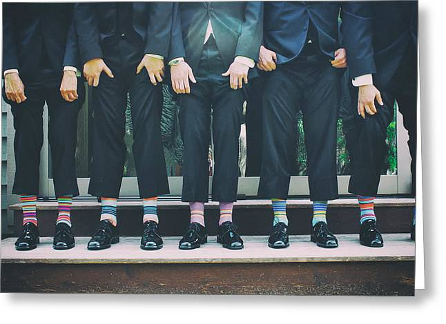 Hosiery Greeting Cards - Colorful Socks Greeting Card by Zak Suharf