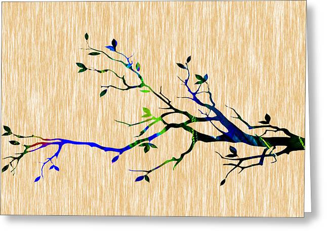 Backgrounds Greeting Cards - Colorful Tree Branch Greeting Card by Marvin Blaine