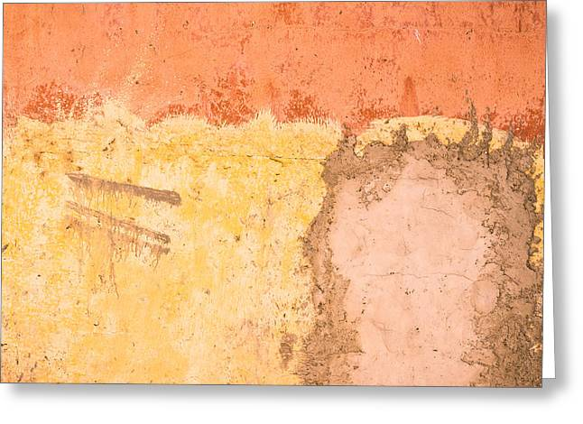 Mud Greeting Cards - Colorful wall Greeting Card by Tom Gowanlock