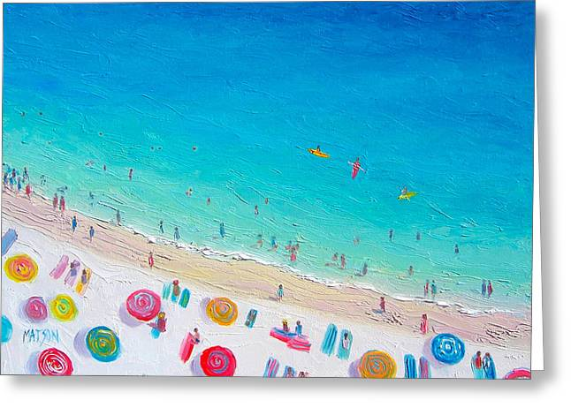 Beach Themed Paintings Greeting Cards - Colors of the Beach Greeting Card by Jan Matson