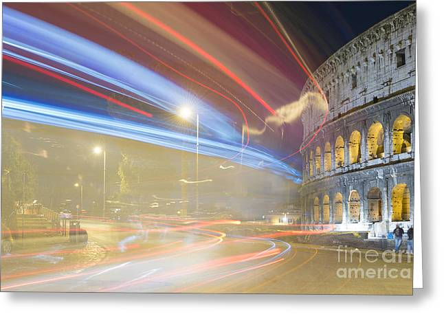 Open Air Theater Greeting Cards - Colosseum Greeting Card by Mats Silvan