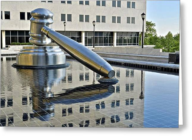 Jury Greeting Cards - Columbus Ohio Justice Center Greeting Card by Frozen in Time Fine Art Photography